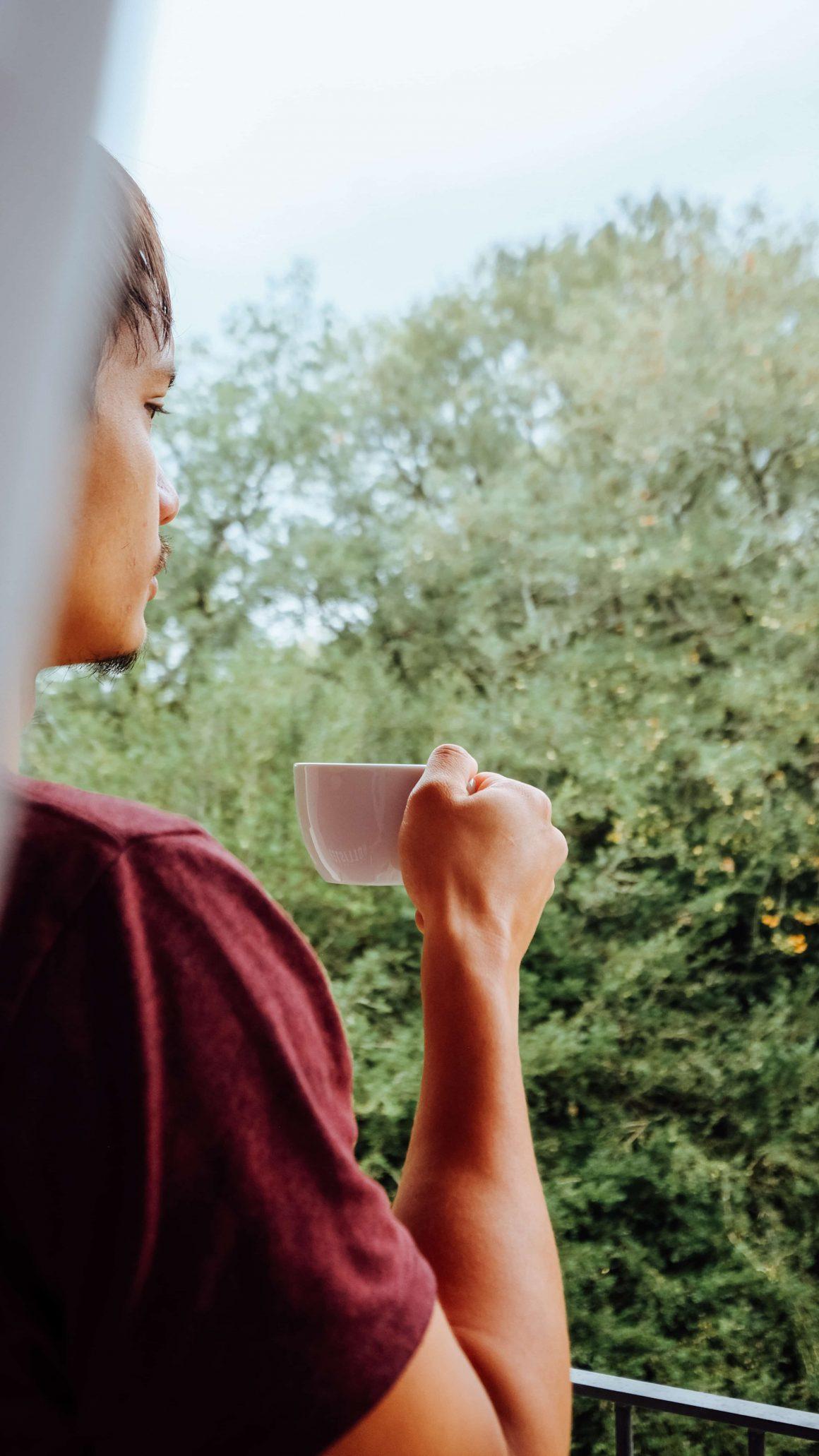 Boire son thé avec vue